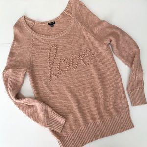 Torrid Love Sweater Tunic Sz 1 (14/16) Pink